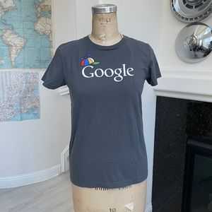 Google t-shirt American apparel grey hat